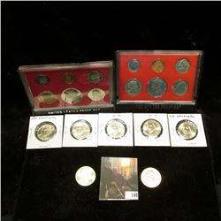 (7) Presidential 'Golden' Dollars, BU; & 1981 S & 82 S U.S. Proof Sets, original as issued.