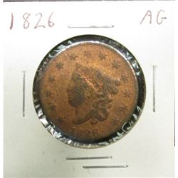 1826 U.S. Large Cent, AG.