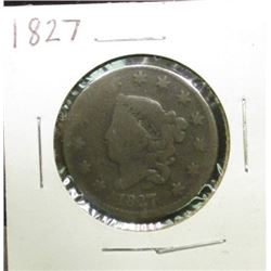 1827 U.S.. Large Cent, Good.