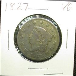 1827 U.S.. Large Cent, Very Good.