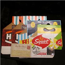 (3) Hires Root Beer Six Pack Cartons (2 varieities) & a Squirt Six Pack Carton, all appear unused; 1