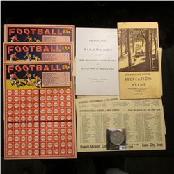 "1962 Booklet ""Iowa's State Owned Recreation Areas State Conservation Commission...""; ""Football"" Acme"