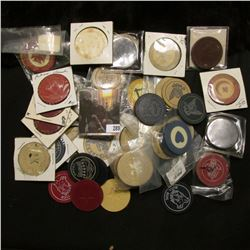 Doc' had this group listed as 50 Different Old Clay Poker Chips and priced at $200.00.  I have not c