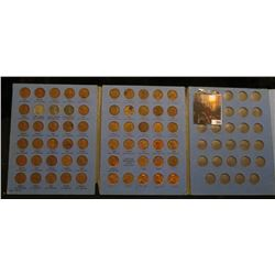 Partial Set of 1941-62 Lincoln Cents in a blue Whitman folder.