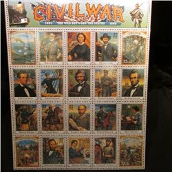 "1995 United States Postal Service Poster of the ""Civil War 1861 The War Between the States 1865""."
