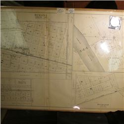 "200' to 1"" ""Durant Farmington Township & Cedar Bluff Cass Township"" Map 18"" x 31""; & 1923 D U.S. Pea"