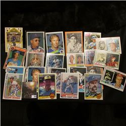 Various Year & Type Autographed Baseball Cards: (2) Jim Frey, Chuck Cottier, Jeff Torborg, (2) Luis