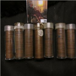 Solid Date rolls of circulated Lincoln Cents including 1918D, 19, 20, 21, 37, 55S, & 56 (7 rolls, ap
