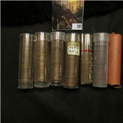 Solid Date rolls of circulated Lincoln Cents including 1926, 29S, 30S, 31, 48, 54S & a mixed roll, (