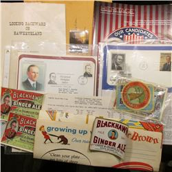 Lyndon B. Johnson First Day Cover; Calvin Coolidge Presidential Birthplace Station Cover; coin suppl