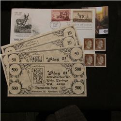 "Set of $10, $20, $50 & $500 Scrip from ""Ramkota Inns"" Colorado & South Dakota Scrip; (4) Three Pfenn"