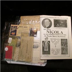"""""""The Great Nicola The Most Delightful Mystic of All Times The Wonder Show of the Universe"""" 8-page br"""