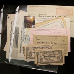 """(16) 1920 era """"Southern Oil Stores United Profit-sharing Coupon(s)""""; and several pieces of early 190"""