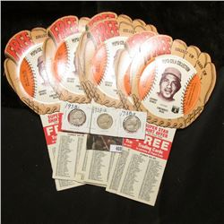 """(20) 1977 Pepsi Base Ball Cards """"Johnny Bench"""" from Ball Glove fans; & 1938P, D, & S Jefferson Nicke"""