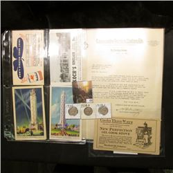Post cards, Letter Heads, advertising cards & etc. from various 1907-1922 era Petroleum companies; &