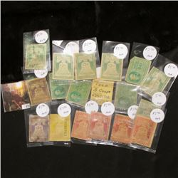 (1) 84c, (6) $2.09, & (11) $5 Federal Use Tax on Motor Vehicles Stamps.