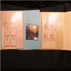 (2) Mint Block Booklet containing 3c & 4c Plate Blocks of Stamps.