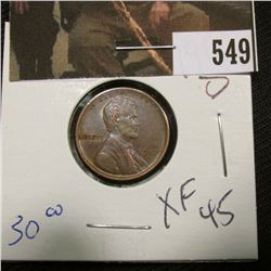 1-1917 D Lincoln Cent XF 45