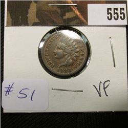 1-1883 Indian Cent VF