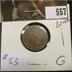 1-1864 Bronze Indian Cent  G