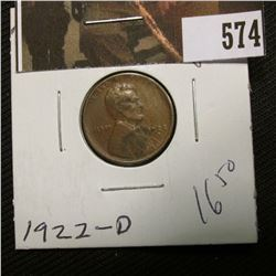 1-1922 D Lincoln Cent VG