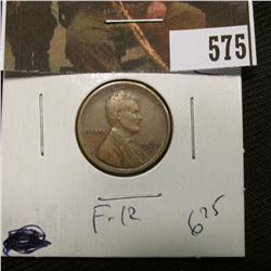 1-1923 S Lincoln Cent F-12