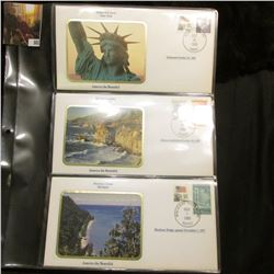 America the Beautiful Commemorative Cover Collection, Statue of Liberty, Big Sur, Mackinac Island