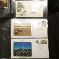 America the Beautiful Commemorative Cover Collection, End Hunger Cover, Petrified Forest, Devastatio
