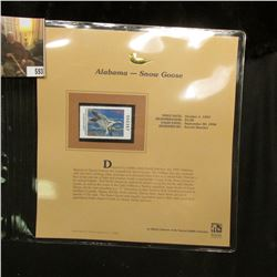 1997 Alabama $5 Waterfowl Stamp, Snow Goose, Mint, unused, in original holder with literature.