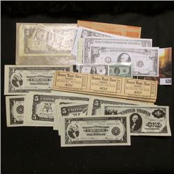 "(27) ""Heaney Magic Show Adult…40c"" Tickets, still attached and unused; & a group of old miniaturized"