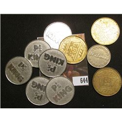 (10) Various Quarter to Half-Dollar Size Gaming Tokens.