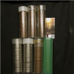 (2) Rolls of Mixed date Jefferson Nickels & (5) Rolls of Wheat Cents.