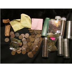 More than 5 Rolls of Mixed Date Jefferson Nickels and more than 250 U.S. Wheat Cents.