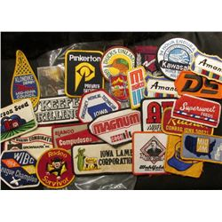 (20) more Different Cloth Embroidered Advertising Patches. This is the beginning of a sale of cloth