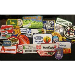 "(25) more Different Cloth Embroidered Advertising Patches. Including a ""Ragbrai XIII 1985 540 Miles"