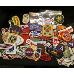 (100) more Different Cloth Embroidered Advertising Patches. This is the beginning of a sale of cloth
