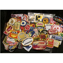 More than(120) Different Cloth Embroidered Advertising Patches. This is the beginning of a sale of c