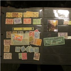 Large group of Specialty Stamps including Stock Transfer Stamps & Liquor Stamp.