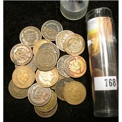 (20) Mixed Date & Grade Indian Head Cents, no culls. Stored in a plastic tube.