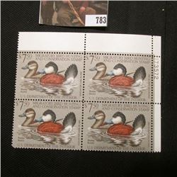 1981 Plateblock of Four RW48 $7.50 Federal Migratory Waterfowl Stamps, EF, NH,
