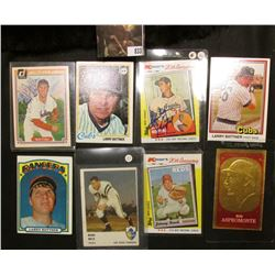 Nice selection of Ball cards including autographed Sandy Koufax & Bob Feller Baseball Cards.