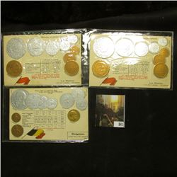 "(4) Blocks of Four Sun Yat-Sen U.S. Postage Stamps; (2) Post cards from ""Le Maroc"" depicting their c"