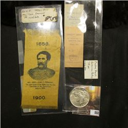 Pair of circa 1900 Swanson's Bakery Tickets from Cedar Rapids, Iowa; 1856-1900 G.O.P. Silk Ribbon of