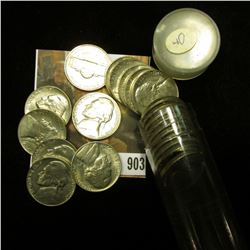 (22) 1940 P Jefferson Nickels in Gem BU condition, stored in a plastic tube.