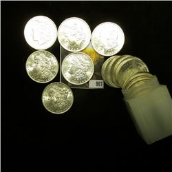 1883 New Orleans Mint Solid Date Roll of U.S. Morgan Silver Dollars in a square plastic tube. (20 pc