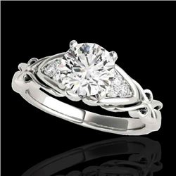 1.35 CTW H-SI/I Certified Diamond Solitairering Two Tone 10K White Gold - REF-200N2Y - 35207