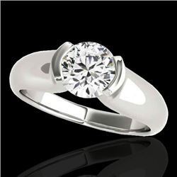 1 CTW H-SI/I Certified Diamond Solitaire Ring 10K White Gold - REF-207M3F - 35173