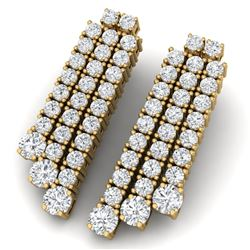 5 CTW Certified VS/SI Diamond Love Earrings 18K Yellow Gold - REF-302H2W - 39985