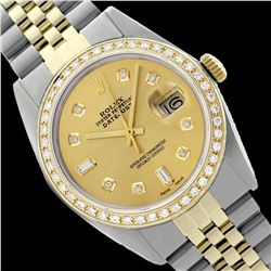 Rolex Ladies Two Tone 14K Gold/ss, Diamond Dial & Diamond Bezel, Saph Crystal - REF-368Y7X