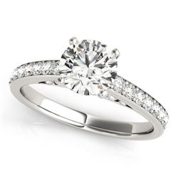 1.5 CTW Certified VS/SI Diamond Solitaire Ring 18K White Gold - REF-381R8K - 27468